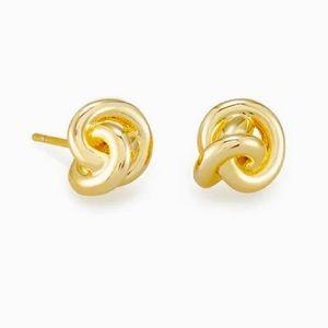 ✂️KENDRA SCOTT Gold Presleigh Love Knot Earrings